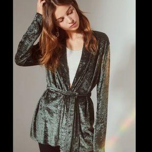 UO Velvet Robe Blazer M